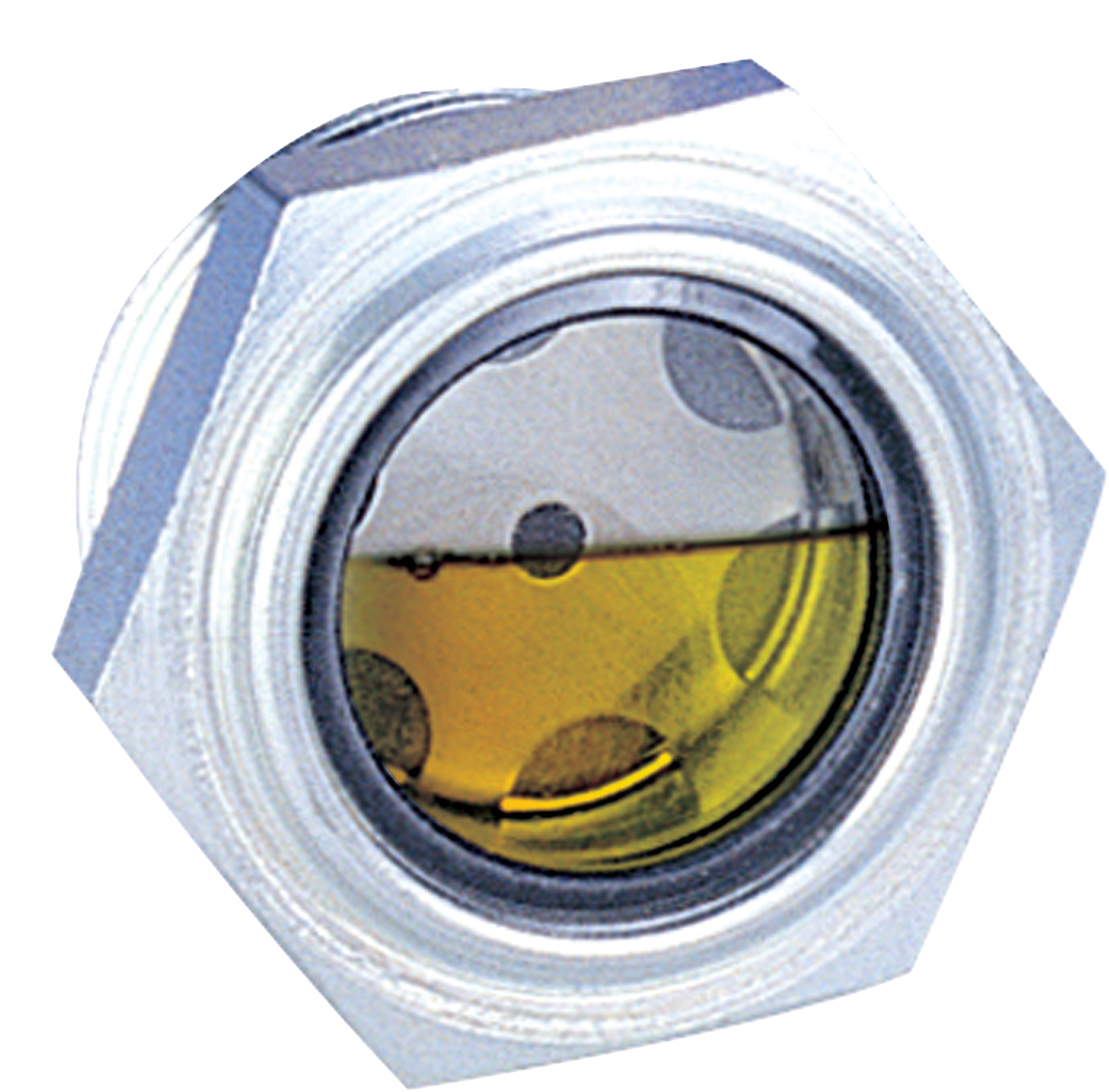 Hydraulic threaded oil sight windows domes
