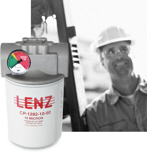 Man with Lenz product